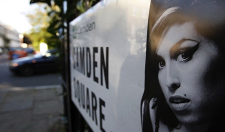 Amy Winehouse's image added to Camden Square road sign