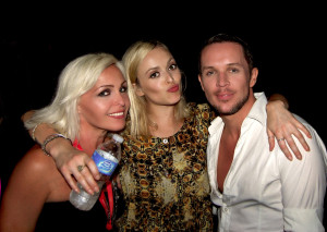 Madhen Helen & Matthew with Fearne Cotton in Barbados