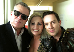 Madhen Helen and Matthew backstage with Suggs