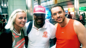 Madhen Helen and Matthew with DJ Locksmith from Rudimental