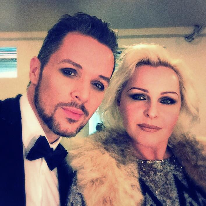 Madhen Matthew and Helen backstage in Cannes