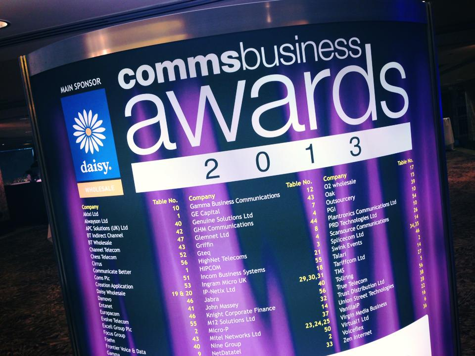 Comms Business Awards 2013