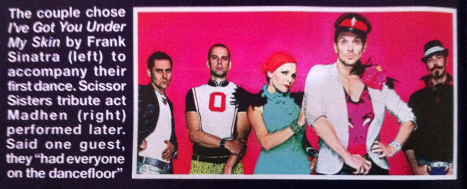 Madhen Party Band Scissor Sisters Tribute