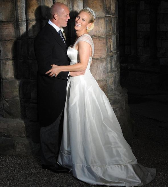 Mike Tindall and Zara Phillips outside Canongate Church Edinburgh at their wedding