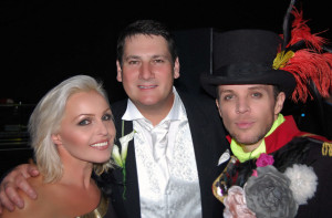 Madhen Helen and Matthew with Tony Hadley at his daughter Tonis Wedding