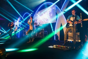 Madhen onstage at Old Billingsgate