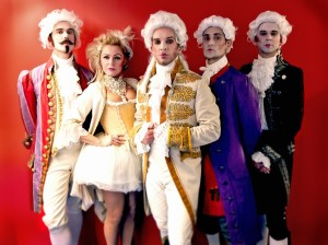 Madhen in powdered wigs in Vienna