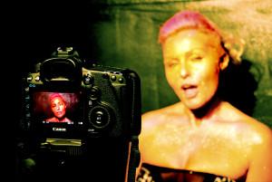 Madhen video shoot Helen Gold