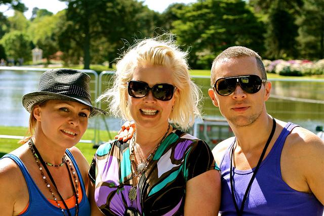 So 80s Helen and Matthew with Kim Wilde